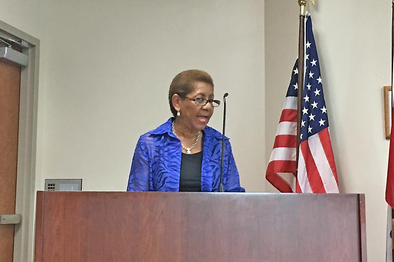 Mayor Shirley Washington joined Deltaplex to update the community on the current water pressure levels